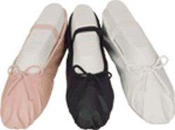 NEW-Capezio-Balera-Pink-Black-White-Full-Sole-Leather-Ballet-Shoes-Adult-Sizes