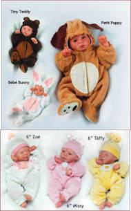 Reborn Doll Kit Mini  6 inch Triplets